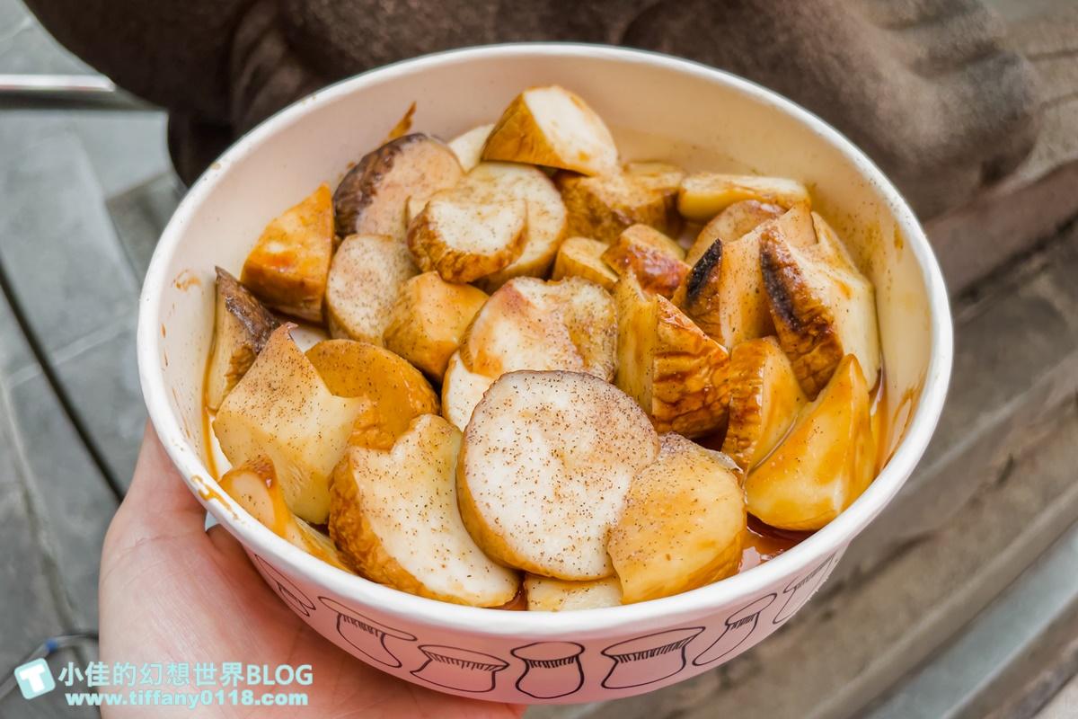 [士林夜市美食]燒烤杏鮑菇(大南路上)/士林夜市必買超人氣排隊美食/有機杏鮑菇多汁又好吃