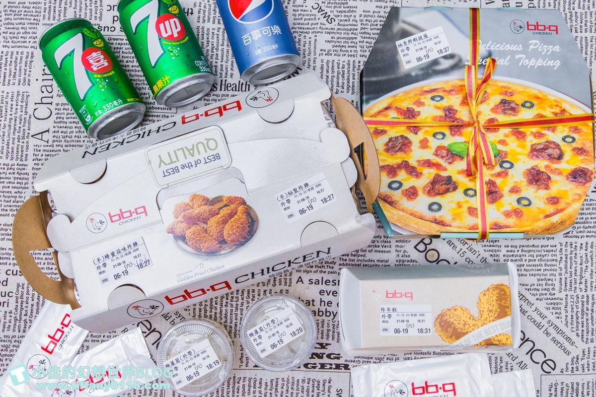 [外送美食推薦]bb.q CHICKEN外帶外送/滿千折200好划算/在家就可以吃到的超好吃韓式炸雞推薦